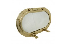 Brass Porthole - Oval Mirror