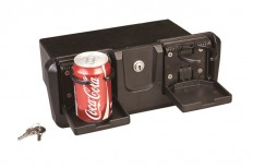 Glove Box with lock and 2 drink holders - Black