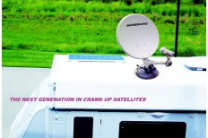 Motorhome Wind - Up Satelite TV Antenna