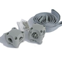 Stanchion Clip Holding straps - Light Grey