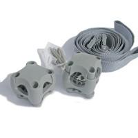 Stanchion Clip Holding straps - Light Grey