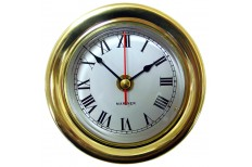 Mariner Ships Clock Brass 112mm