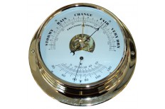 """NAUTILUS"" Open Face Barometer & Thermometer"