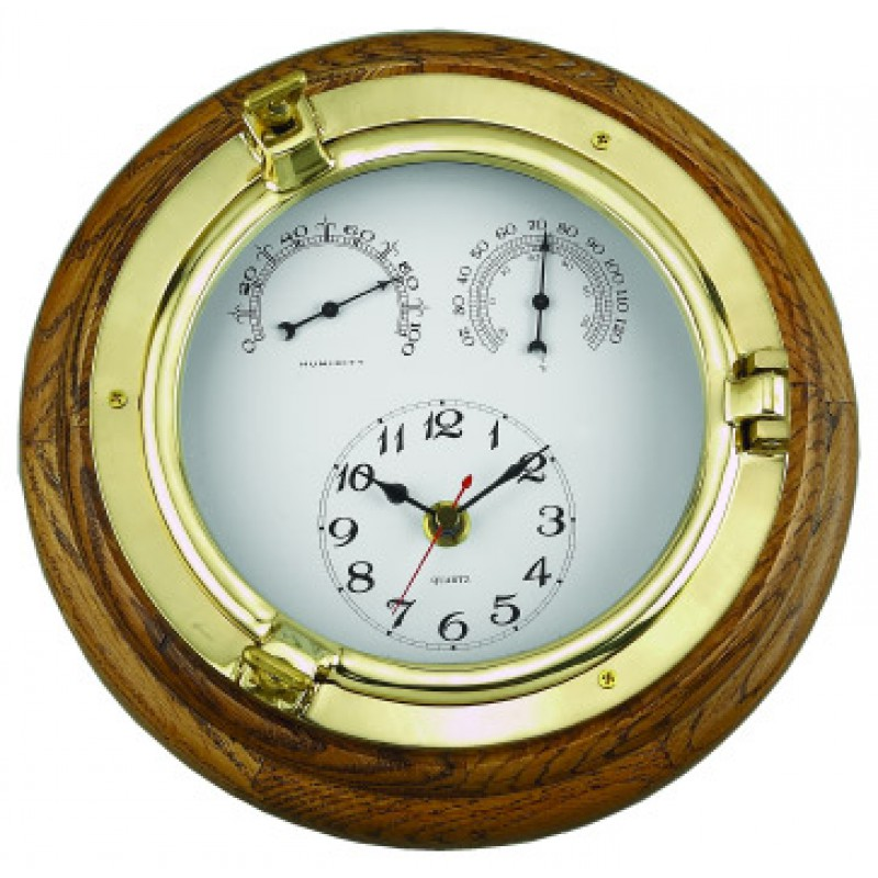 Clock with temp and humidity absolute marine for Wall clock with temperature and humidity india