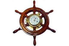 "Ships Clock - 5"" in 15"" Timber Wheel"