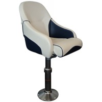Flip Up Seat White/Navy