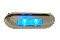 Flush Mount Waterproof LED Light - SS Rim