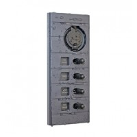 4-Way Weatherproof Panel with USB Socket