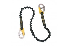 Elastic Twin Hook Safety Lanyard - 1.20/1.77m