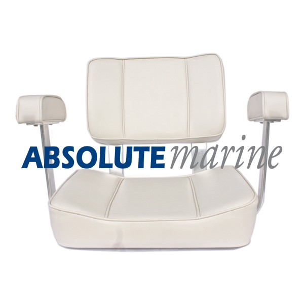 Captains Seat With Arm Rest   White ...