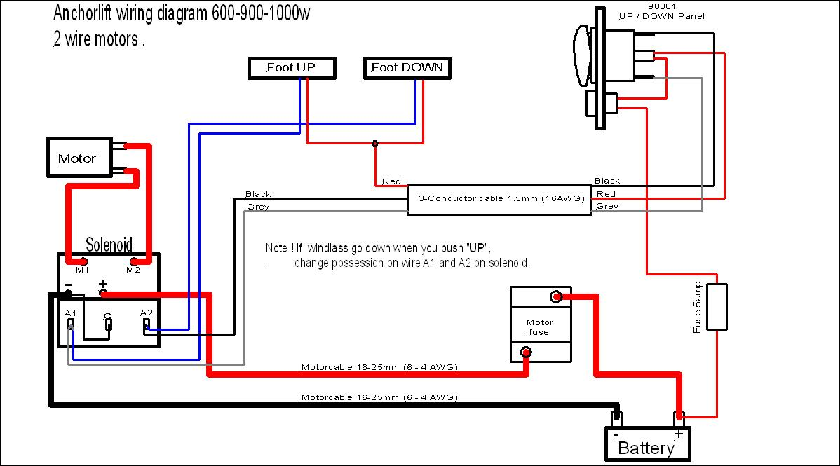 Barracuda Dolphin Wiring with Foot solenoid 12v 500 1500w absolute marine Basic Electrical Wiring Diagrams at honlapkeszites.co