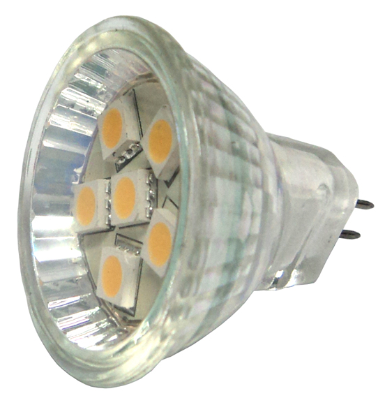 Led Bulb Mr11 6smd Warm White Absolute Marine